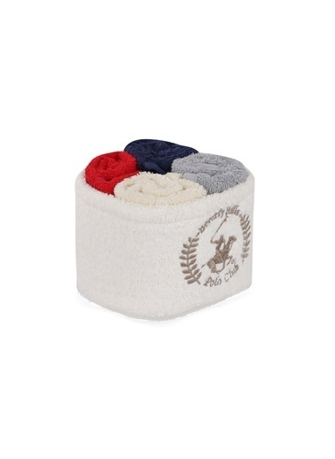 Beverly Hills Polo Club Polo El Kurulama Havlu Seti 30x30cm (4) Alinda - White v02 Beyaz  Gri  Kırmızı  Lacivert Gri